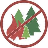 Быть-лесной пожар знака Стоковая Фотография