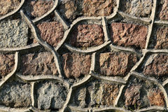 Былая каменная стена Стоковые Изображения