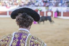 Была выведена деталь отрезка провода, в столетии XIX bullfighters Стоковое Фото