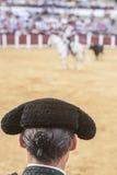 Была выведена деталь отрезка провода, в столетии XIX bullfighters Стоковые Изображения RF