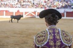 Была выведена деталь отрезка провода, в столетии XIX bullfighters Стоковые Фото