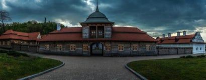Былинная крепость героя Ukraininan и гетмана Khmelnytsky - Panora Стоковые Изображения