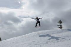 Былинный день каждый день: Сноубординг Beaver Creek, курорты Vail, Eagle County, Эвон, CO Стоковое фото RF