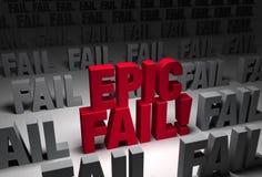 Былинный терпеть неудачу! Стоковое Фото