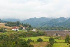 был пейзажем гор горы зданий приходя стоковые изображения rf