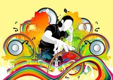 бьет диско в стиле фанк бесплатная иллюстрация
