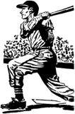 Бэттер 2 бейсбола иллюстрация штока