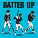 Бэттер вверх по художественному произведению бейсбола иллюстрация штока