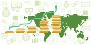 Бюджет карты мира Стоковая Фотография