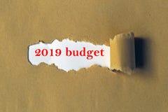 бюджет 2019 стоковые фото