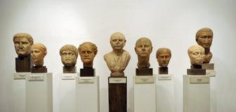 Бюсты римских граждан, мраморных скульптур Стоковое Фото