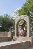 Бюст Александра Suvorov на редуте Suvorov в городе Evpatoria Стоковое Изображение RF
