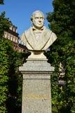 Бюст врача Johann Lukas Schönlein в Бамберге, Германии Стоковое фото RF