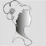 Бюст женщины на черно-белой предпосылке Стоковая Фотография RF