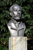 Бюст композитора p I Tchaikovsky в Калининграде, России стоковые изображения rf