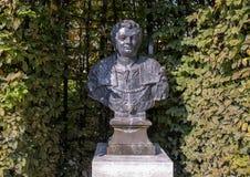 Бюст Маркус Salvius Otho Bartholomeus Eggers, садом скульптуры Rijksmuseum, Амстердамом, Нидерланд стоковое фото