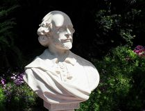 Бюст Уильям Шекспир стоковое изображение rf