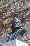 Бюст Christopher Columbus в Calvi стоковые фотографии rf