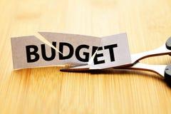 Бюджетное сокращение Стоковые Изображения RF