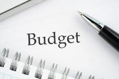 Бюджет документа стоковые фото