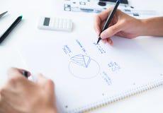 Бюджет дома вычисления персоны Стоковое Фото