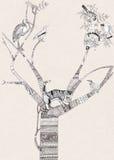 Благословленное дерево иллюстрация вектора
