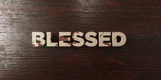 Благословленное - grungy деревянный заголовок на клене - 3D представило изображение неизрасходованного запаса королевской власти иллюстрация штока