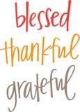 Благословленный, благодарный, признательный Стоковые Фотографии RF