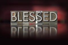 Благословленный Letterpress Стоковое Изображение