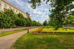 Благоустраивать квадрата в городе Стоковая Фотография RF