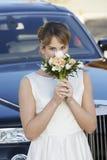 Благоухание невесты пахнуть цветков Стоковая Фотография