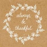 Благодарная поздравительная открытка Стоковые Фото