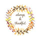 Благодарная поздравительная открытка Стоковые Изображения