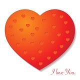 бленда красит гловальный вектор сердца Стоковая Фотография