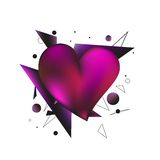 бленда красит гловальный вектор сердца Стоковые Изображения