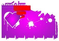бленда красит гловальный вектор сердца Стоковые Фото