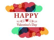 бленда красит гловальный вектор сердца Стоковая Фотография RF