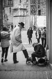 Блеск ботинок в улице Стоковая Фотография