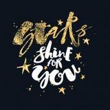Блеск звезд для вас плакат мотивировки влюбленности Стоковое Изображение RF