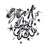 Блеск звезд для вас плакат мотивировки влюбленности Стоковое Изображение