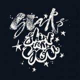Блеск звезд для вас плакат мотивировки влюбленности Стоковые Фото