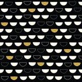 Блестящая геометрическая безшовная картина с реальным золотом Стоковая Фотография