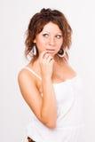 Блестящая молодая женщина redhead стоковые изображения rf