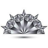 Блестящий шаблон с pentagonal серебристыми звездами, самый лучший fo вектора Стоковые Изображения