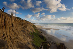 Блефы пляжа положения Кардиффа стоковые фотографии rf