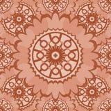 Бледная абстрактная безшовная картина с круглыми орнаментальными элементами Стоковые Изображения