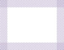 Бледная фиолетовая и белая Checkered рамка Стоковая Фотография RF