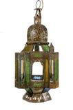 Ближневосточное лампы сделанное из смертной казни через повешение металла изолированной на белизне Стоковые Фотографии RF