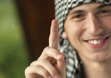 Ближневосточный молодой человек Стоковые Фото