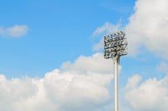 близкая башня стадиона света прожектора вверх Стоковое Фото
